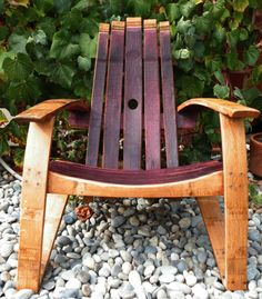 Wine barrel chair!  http://www.winebarrelworkshop.com/wp-content/uploads/2012/03/adirondack1.jpg