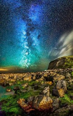 Night Sky. Orchard Bay, Isle of Wight. photographed by Chad Powell.