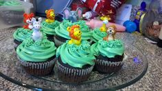 Zoo cupcakes for my baby girls 2nd birthday party.