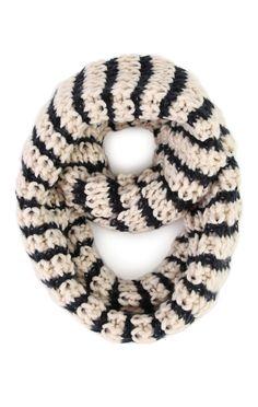 Deb Shops Crochet Knit Infinity Scarf