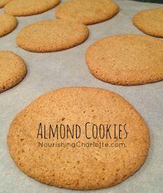 Awesome Almond Cookies {Grain-free/Gluten-free-Sugar-free}