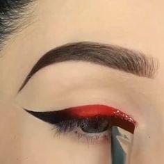 Makeup Vs No Makeup, Makeup Eye Looks, Dark Skin Makeup, Cheap Makeup, Makeup Set, Makeup Tips, Red Eyeliner, Eyeliner Looks, Makeup Prices