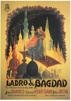 The Thief of Bagdad (1940), Art by Anselmo Ballester, Book: Film Posters of the 1940s - Tony Nourmand and Graham Marsh, Published by Taschen