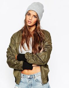 $11, Asos Collection Deep Turn Up Beanie. Sold by Asos. Click for more info: https://lookastic.com/women/shop_items/343685/redirect