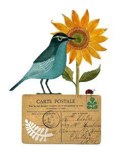 Bird No22 por Geninne en Etsy, $30.00
