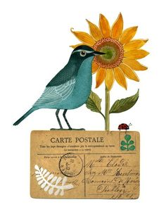 """Geninne's """"Bird No. 22"""" - the artist is Geninne Zlatkis -- her journal pages (well, actually, they're calendar pages) knock my socks off!!!"""