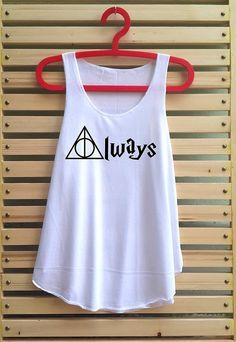 Alway Deathly Hallows shirt Harry potter shirt tank top Harry Potter clothing vest tee tunic - size S M