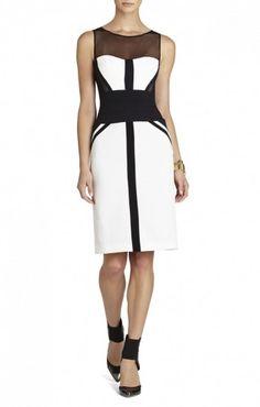 $177.00 BCBG REINA FITTED SLEEVELESS DRESS by merychen