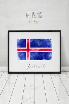 Sweden flag print Sweden art poster watercolor by ArtPrintsVicky Map Artwork, Map Wall Art, Watercolor Walls, Watercolors, Iceland Flag, Sweden Flag, World Map Poster, Kunst Poster, Flag Decor