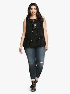 Beaded Sequin Tank Top | Torrid