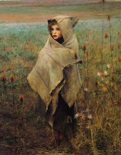 Jules Bastien-Lepage (1848-1884) Pauvre Fauvette Oil on canvas 1881 -detail