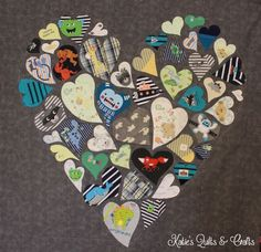 Katie's Quilts and Crafts: Oliver's Heart Quilt.