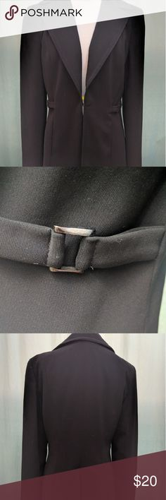 Bebe black blazer Black bebe blazer with buckles,  thick,  heavy,  long,  down to the hips bebe Jackets & Coats Blazers
