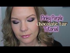 Pinky Purple Chocolate Bar Palette Tutorial! - YouTube