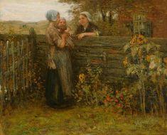 Bernardus Johannes Blommers – Praatje met de buurvrouw