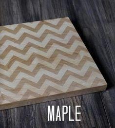 Large Modern Chevron Cutting Board - Maple
