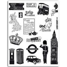 Londres - Set de 18 Tampons Clear - Big Ben : x cm