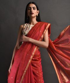 Buy A Chanderi Fascination Smriti Gupta Chanderi sarees with zari and cotton blouses in beautiful hues Online at Jaypore.com