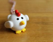 Polymer Clay Chicken Christmas Ornament