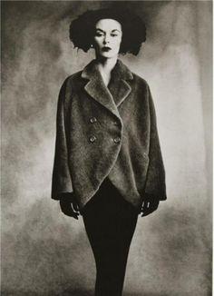 Irving Penn, Lisa Fonssagrives wearing coat by Balenciaga, Vogue, 1950