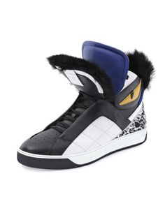 new style 1ca0d 5f2eb Monster Fur-Trimmed High-Top Sneaker by Fendi at Neiman Marcus. Sneaker  Games
