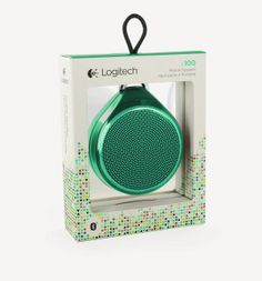 Logitech X100 mobile speaker cyan green and clever #packaging (sorry no source link) PD