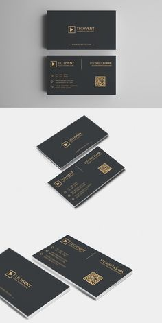 Gold Minimal Business Card Template for personal and company use. Business Cards Layout, Real Estate Business Cards, Minimal Business Card, Elegant Business Cards, Free Business Cards, Business Card Design, Black Business Card, Calling Card Design, Name Card Design