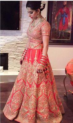 Beautiful Bride on Half Saree