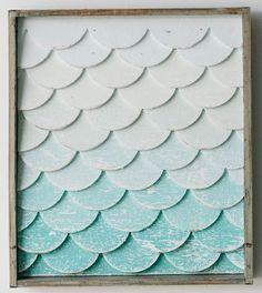 Mermaid Tail Wall Art - Small: Beach Decor, Coastal Decor, Nautical Decor, Tropical Decor, Luxury Beach Cottage Decor, Beach House Decor Shop
