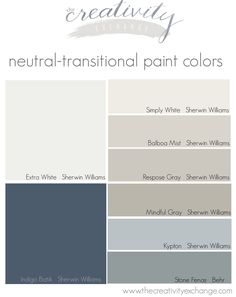 Simply White, Mindful Gray and Indigo Batik for kitchen palette