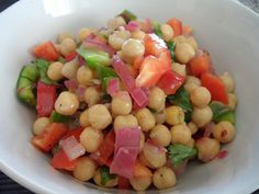 Easy Peasy Mouthwatering Chickpea Salad