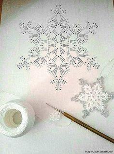 Com Crochet Snowflake Pattern & SkillOfKing.Com The post Crochet Snowflake Pattern & SkillOfKing.Com appeared first on Belle Ouellette. Crochet Snowflake Pattern, Crochet Stars, Crochet Snowflakes, Crochet Mandala, Thread Crochet, Crochet Motif, Crochet Crafts, Crochet Doilies, Crochet Flowers
