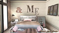 "Ruby Red Simblr - CC List:  ""&"" wall deco   /    ""ME"" wall deco   /..."