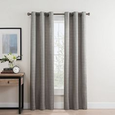 Roland Grommet Room Darkening Window Curtain Panel Pair Bed Bath