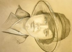 Florence, Pencil and chalk sketch by Jacqueline Zuckerman
