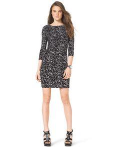 MICHAEL Michael Kors  Slim Printed Jersey Dress.