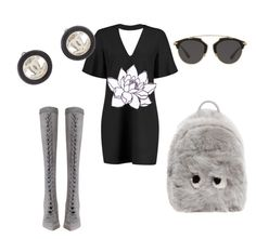 """""""Untitled #300"""" by gildaronca on Polyvore featuring Boohoo, PINTRILL, Zimmermann, Anya Hindmarch, Christian Dior and Chanel"""