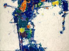Color implosion, Sam Francis Middle Blue from 1957.