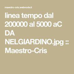 linea tempo dal 200000 al 5000 aC DA NELGIARDINO.jpg :: Maestro-Cris