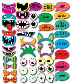 39 descarga instantánea divertida Monster foto stand apoyos gran para Monster fiestas temáticas bricolaje (Pdf y Jpeg)