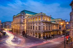 Vienna Opera - View to the austrian opera in the evening Architecture Photo, Vienna, Austria, Interior And Exterior, Opera, Places To Go, Beautiful Places, Louvre, Around The Worlds