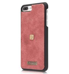 CaseMe 009 iPhone 7 Plus Zipper Wallet Metal Buckle Detachable Folio Case Red