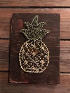 Ananas String Kunst, Wandkunst, String Kunst, Rustic Home Decor, Boho rustikal Zeichen, Holz Zeichen, SCHNELLE LIEFERUNG