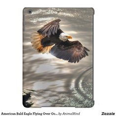 American Bald Eagle Flying Over Ocean Case For iPad Air