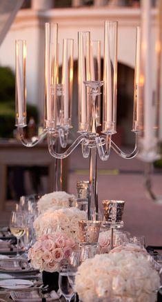 Candelabra Wedding Centerpiece ~ via White Lilac Inc.
