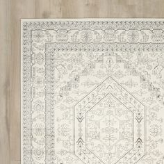 Found it at Wayfair - Barson Ivory & Silver Area Rug
