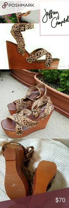 NWOB Jrffrey Campbell rad leopard sandals 9.5 .❤ the only time they have ever hit the pavement was for the photos. 5 inch heel. Bought online . Jeffrey Campbell Shoes Sandals