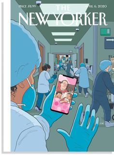 Chris Ware's Moving Pandemic-Themed Cover for the New Yorker The New Yorker, New Yorker Covers, Cover Pages, Cover Art, Capas New Yorker, Illustration Simple, Chris Ware, National Doctors Day, Nurse Art