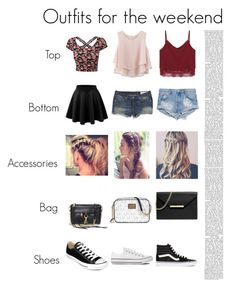 """Outfits For The Weekend"" by heyitskristine ❤ liked on Polyvore featuring rag & bone, One Teaspoon, Chicwish, Rebecca Minkoff, Michael Kors, MICHAEL Michael Kors, Converse and Vans"