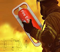 Liteon LBS Portable Fire Extinguisher by Shao-Feng Wang - The LBS Portable Fire Extinguisher is established on Location Based Services technology and alerts residents the minute a fire starts in their locality. The purpose of the service is to evacuate the residents in a short, speedy manner and get the fire in control asap Read more at http://www.yankodesign.com/2014/09/16/dousing-that-fire/#SBSUQvePW09w9mGC.99